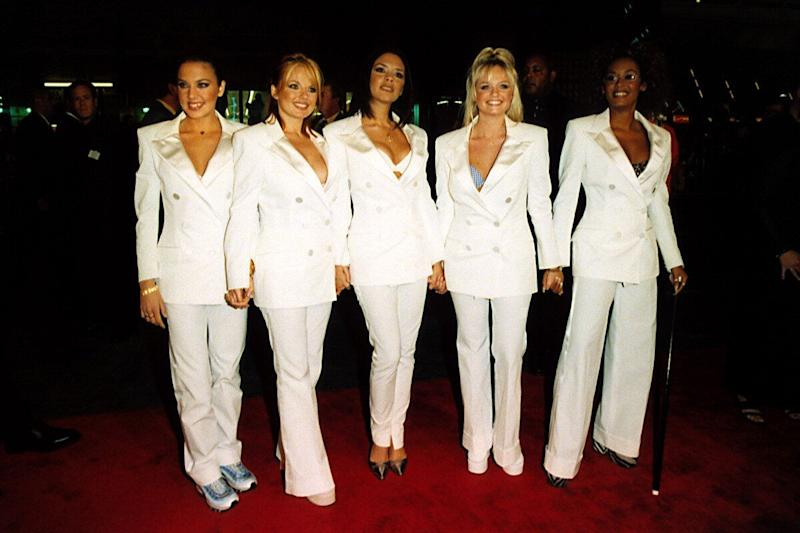<strong>1998</strong> The Spice Girls at a premiere for their movie Spice World