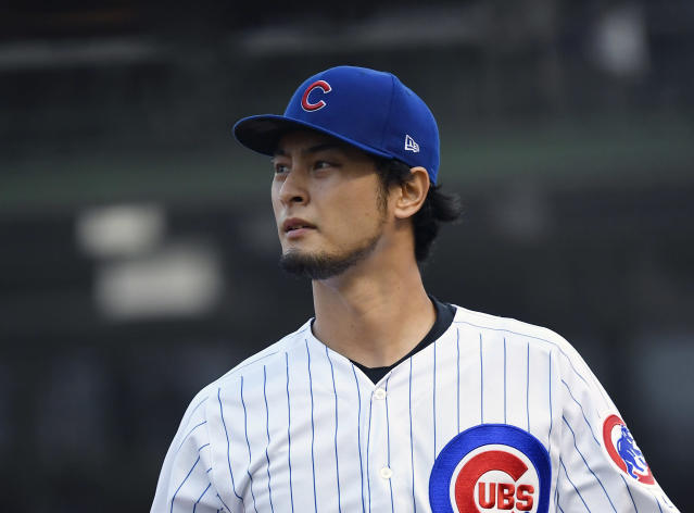 Yu Darvish is returning to Los Angeles where it's not expected he'll receive a warm welcome from Dodgers fans. (Photo by Quinn Harris/Getty Images)