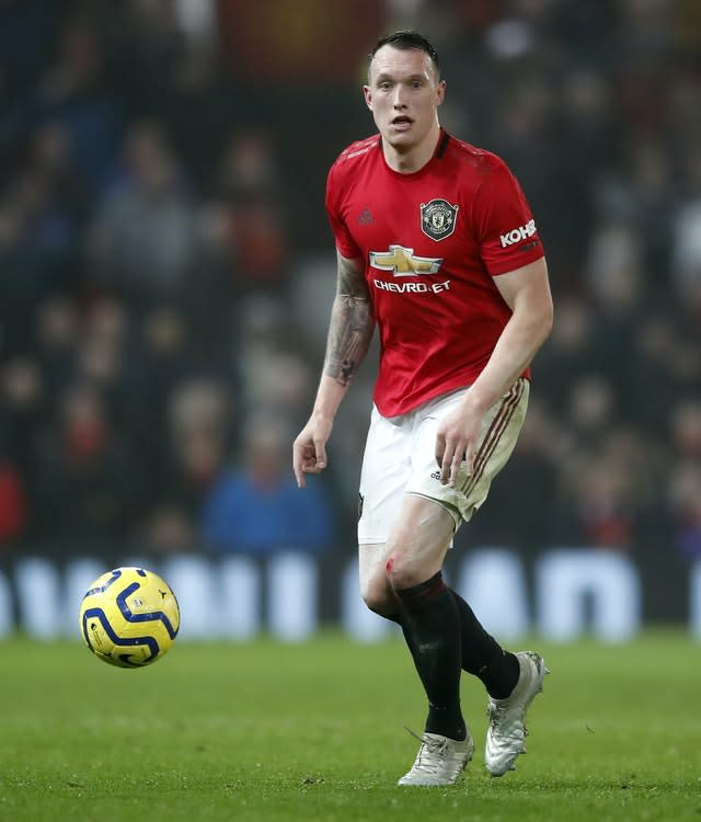Manchester United's Phil Jones is wanted by Wayne Rooney