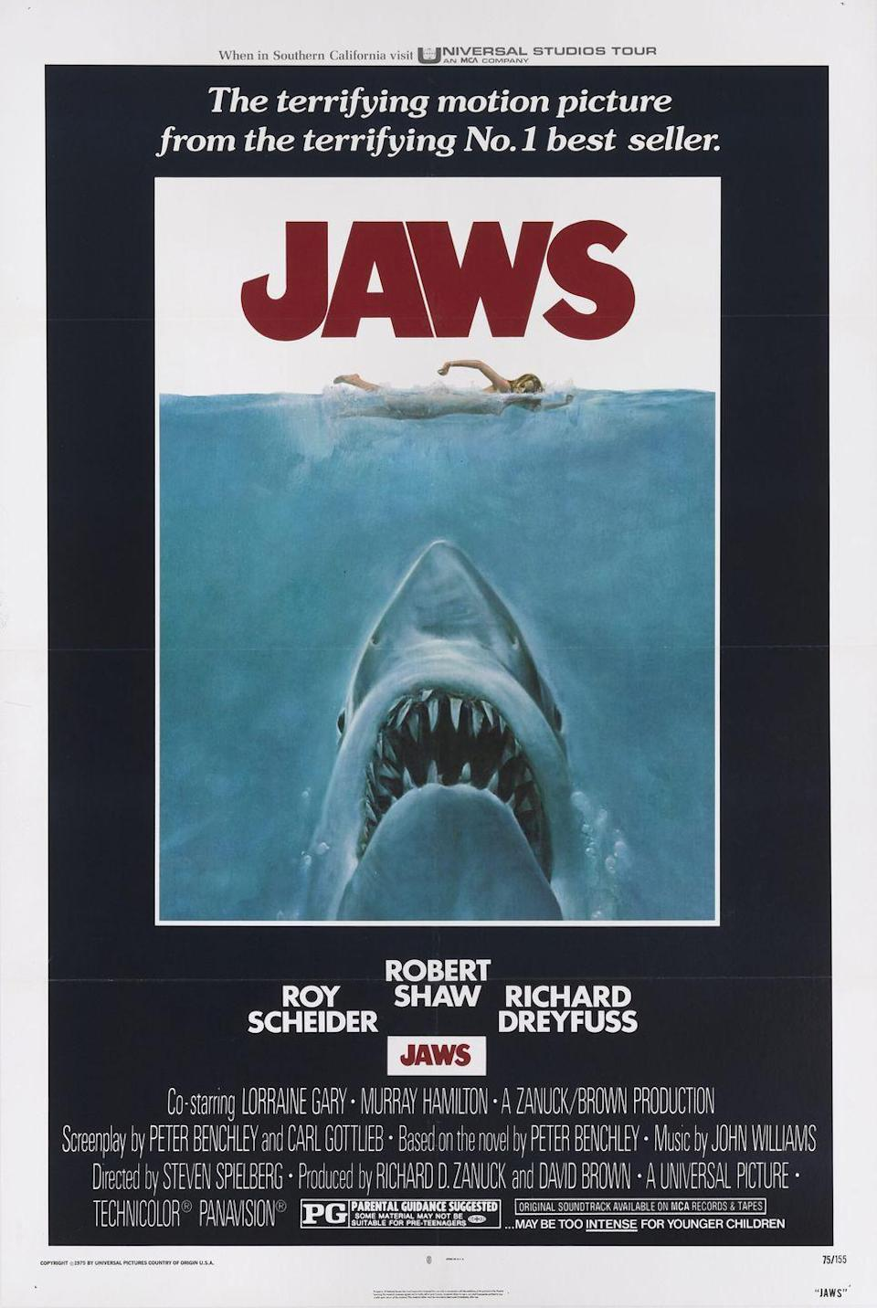 "<p>I challenge you to think of a horror movie released since 1975 that uses music to inspire fear as effectively as <em>Jaws</em> does. When you hear that ""<a href=""https://www.youtube.com/watch?v=ZvCI-gNK_y4"" rel=""nofollow noopener"" target=""_blank"" data-ylk=""slk:dun-dun, dun-dun, dun-dun"" class=""link rapid-noclick-resp"">dun-dun, dun-dun, dun-dun</a>"" sound (you know what I'm talking about), you know shit's about to get bloody.</p>"