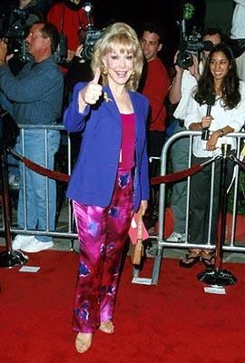 """Premiere: <a href=""""/movie/contributor/1800016498"""">Barbara Eden</a> at the Mann Village Theater premiere of 20th Century Fox's <a href=""""/movie/1800359981/info"""">Bedazzled</a> - 10/17/2000<br><font size=""""-1"""">Photo by <a href=""""http://www.wireimage.com"""">Steve Granitz/wireimage.com</a></font>"""