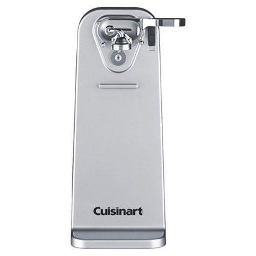 "<p><strong>Cuisinart</strong></p><p>walmart.com</p><p><strong>$29.94</strong></p><p><a href=""https://go.redirectingat.com?id=74968X1596630&url=https%3A%2F%2Fwww.walmart.com%2Fip%2FCuisinart-Deluxe-Can-Opener-Black%2F38453308&sref=https%3A%2F%2Fwww.goodhousekeeping.com%2Fcooking-tools%2Fg30086153%2Fbest-electric-can-openers%2F"" rel=""nofollow noopener"" target=""_blank"" data-ylk=""slk:Shop Now"" class=""link rapid-noclick-resp"">Shop Now</a></p><p>Cuisinart's stainless steel deluxe can opener has a sturdy, wide base and sleek design, which won't feel like clutter on your kitchen counter. During our tests, <strong>the magnet held cans up to 32 ounces in place without help</strong>, and the one-touch auto shut-off feature worked well. The lever removes easily for cleaning and can be adjusted to cut from the top or the side<strong>.</strong> This model comes with a three-year limited warranty. </p>"