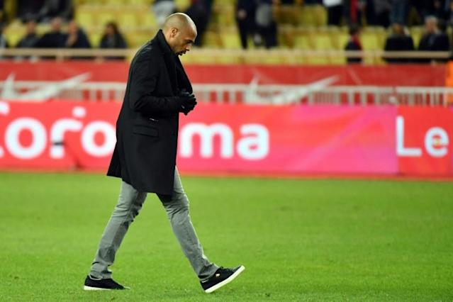 Thierry Henry's miserable tenure at Monaco has not dimmed his ardour to have another chance to prove himself as a top manager (AFP Photo/YANN COATSALIOU)
