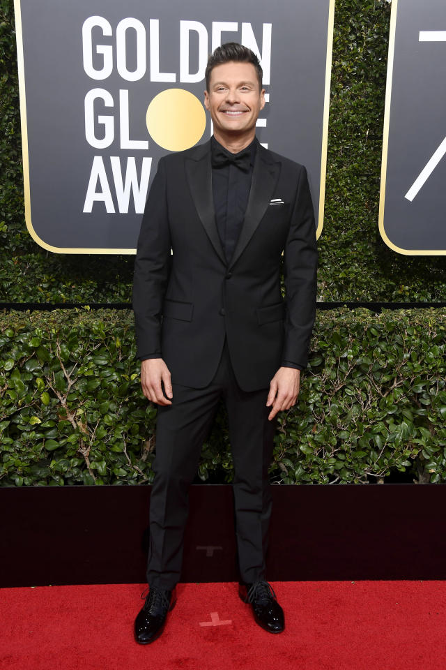 Ryan Seacrest at the Golden Globes, Jan. 7, 2018, in Beverly Hills, Calif. (Photo: Getty Images)