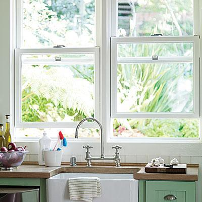 """<div class=""""caption-credit""""> Photo by: Thomas J. Story</div><b>Make old windows eco-friendly</b> <br> It may seem quicker and easier to replace windows that aren't energy efficient, but the most eco-friendly option is to have old windows refurbished. Add weather stripping, install new sash locks for a tighter seal, and add insulation in the weight pockets and under the sill."""
