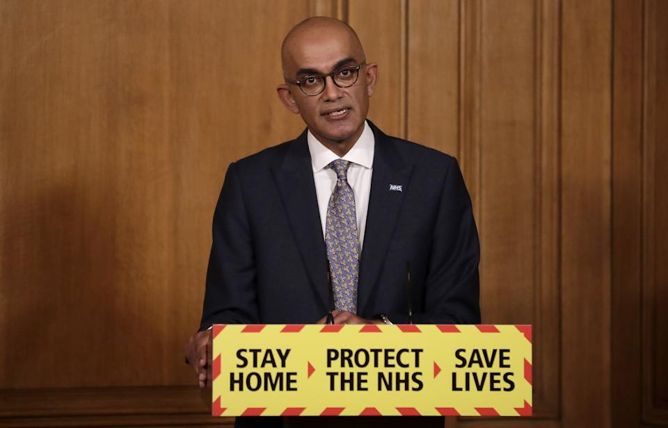 Dr Vin Diwakar, NHS England regional medical director for London, tried to allay fears of the vaccine for skeptical communities. (Getty)