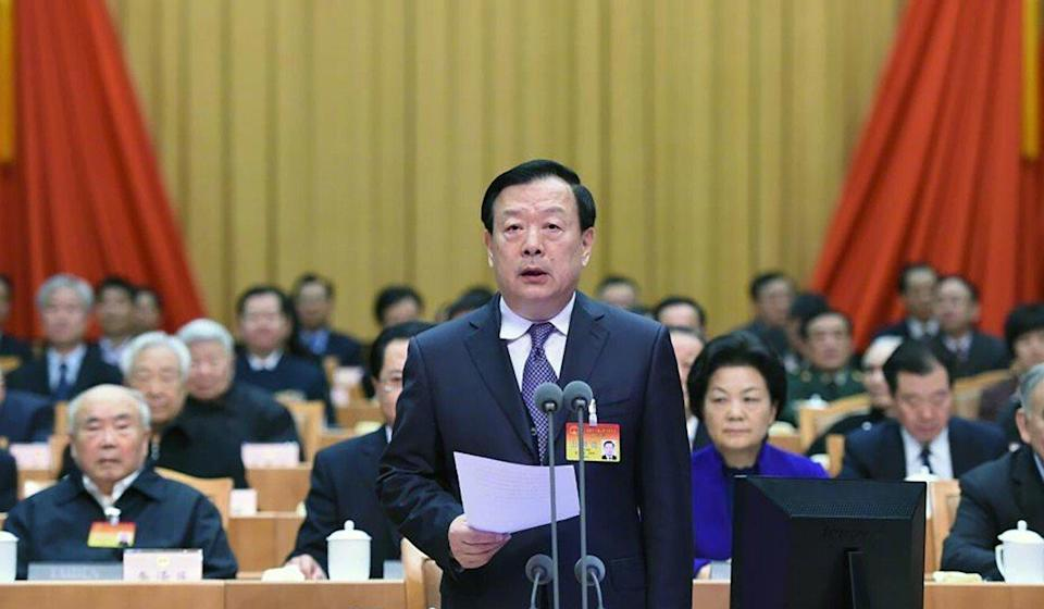 Shi's background includes serving as deputy director of Zhejiang's party committee office under Xia Baolong, who was appointed head of the Hong Kong and Macau Affairs Office last February. Photo: Weibo