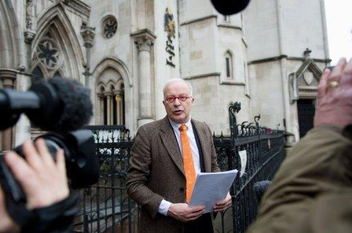 Phil Shiner of Public Interest Lawyers outside the High Court in central London on January 29, 2013