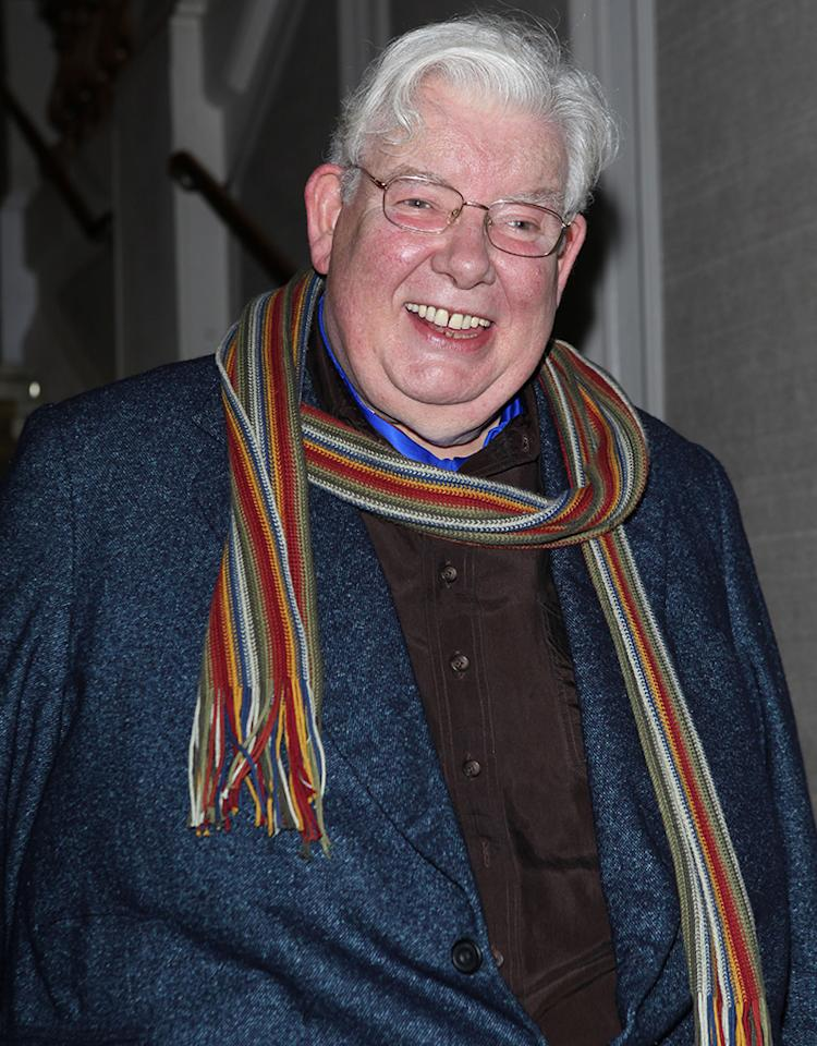 "LONDON, ENGLAND - MAY 17: (EMBARGOED FOR PUBLICATION IN UK TABLOID NEWSPAPERS UNTIL 48 HOURS AFTER CREATE DATE AND TIME. MANDATORY CREDIT PHOTO BY DAVE M. BENETT/GETTY IMAGES REQUIRED) Actor Richard Griffiths attends the curtain call and after-party for ""The Sunshine Boys"" at the Savoy Theatre on May 17, 2012 in London, England. (Photo by Dave M. Benett/Getty Images)"