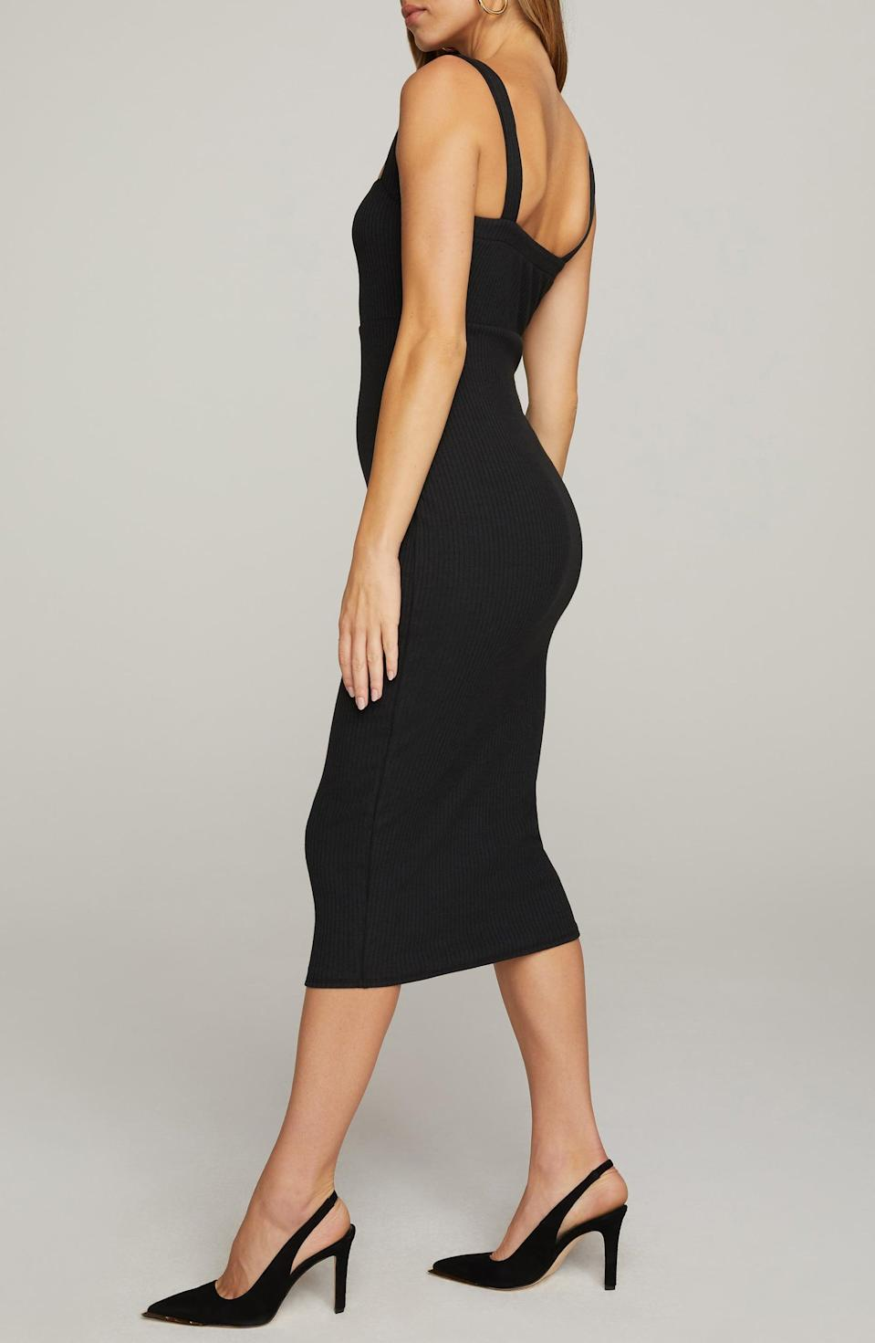 <p>This <span>Good American Ribbed Tank Dress</span> ($99) makes a sleek, modern and sexy statement in your closet.</p>
