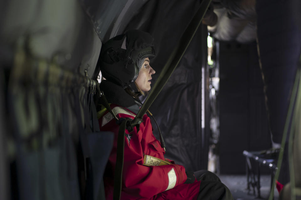 Suranne Jones said filming in the cramped submarine conditions was difficult. (BBC)