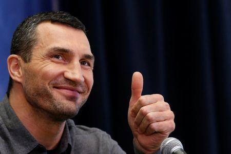 Boxer Wladimir Klitschko attends a news conference at Madison Square Garden in New York City, U.S., January 31, 2017. REUTERS/Brendan McDermid