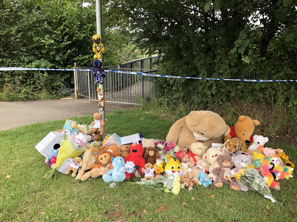 Tributes have been left by the river (Claire Hayhurst/PA) (PA Wire)