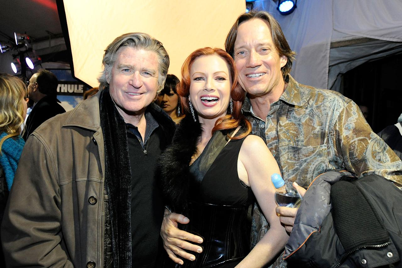 Treat Williams, Traci Lords and Kevin Sorbo are seen out and about during the 2012 Sundance Film Festival in Park City, Utah on January 22, 2012.