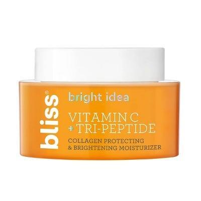 <p>The <span>Bliss Bright Idea Vitamin C + Tri-Peptide Collagen Protecting &amp; Brightening Moisturizer</span> ($22) is a nutrient-packed moisturizer perfect for instantly plumped and dewy skin.</p>