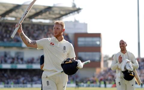 Ben Stokes takes the plaudits as he walks off the pitch - Credit: Getty images