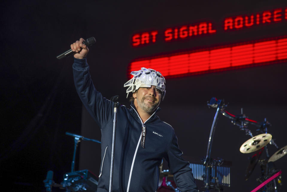 Jamiroquai performs on stage for On Blackheath festival at Blackheath Common on 13th July, 2019 in London, United Kingdom. (photo by Claire Doherty/In Pictures via Getty Images Images)