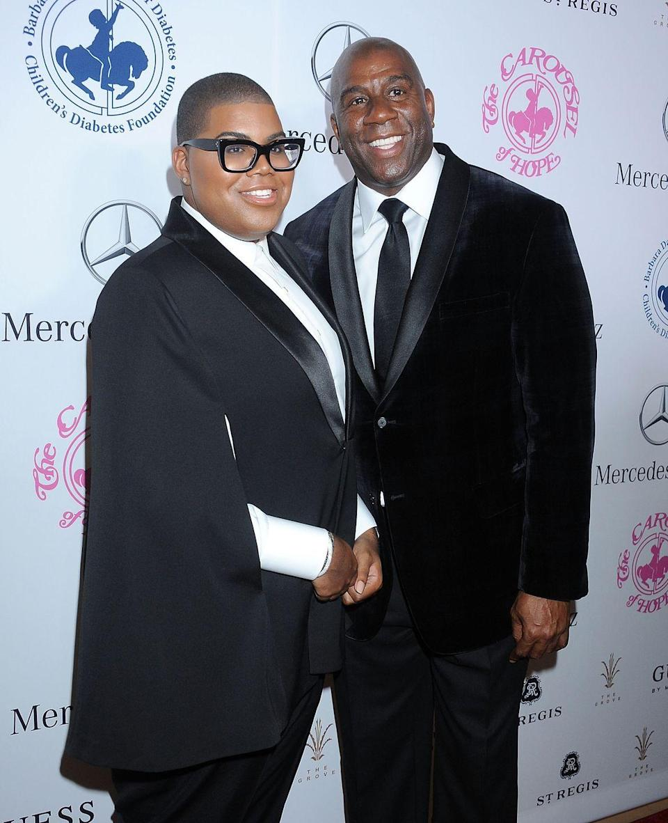 """<p><strong>Famous parent(s): </strong>NBA legend Magic Johnson<br><strong>What it was like: </strong>""""I always wanted to come into the spotlight,"""" he's <a href=""""http://www.espn.com/los-angeles/nba/story/_/id/9177551/ej-johnson-son-magic-johnson-talks-being-gay"""" rel=""""nofollow noopener"""" target=""""_blank"""" data-ylk=""""slk:said"""" class=""""link rapid-noclick-resp"""">said</a>. """"I always had dreams and plans of doing my own thing and creating my own image...<span class=""""redactor-unlink"""">""""</span></p>"""