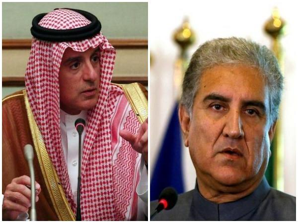 Saudi Foreign Minister Adel al-Jubeir and Pakistan Foreign Minister Shah Mahmood Qureshi