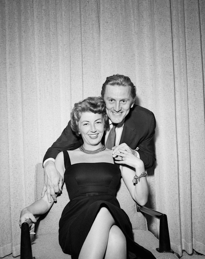 <p>Kirk Douglas had a reputation as a Hollywood playboy before meeting public relations expert Anne Buydens on a set in Italy. The couple got married a year later and were married for 66 years when Kirk passed away in 2020. </p>