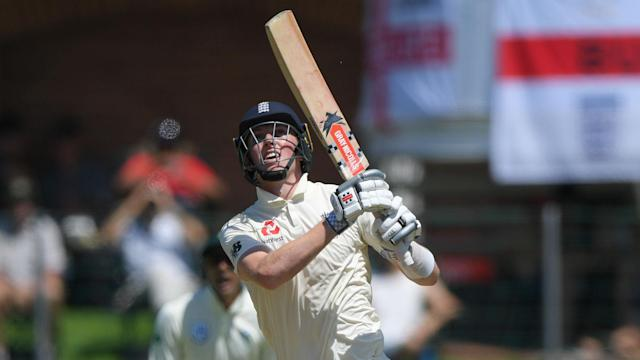 England opener Zak Crawley made the highest score of his short Test career on the first day of the third Test against South Africa.