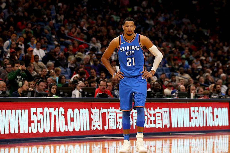 Andre Roberson tore his patellar tendon in January 2018, and hasn't played in a game for Oklahoma City since.
