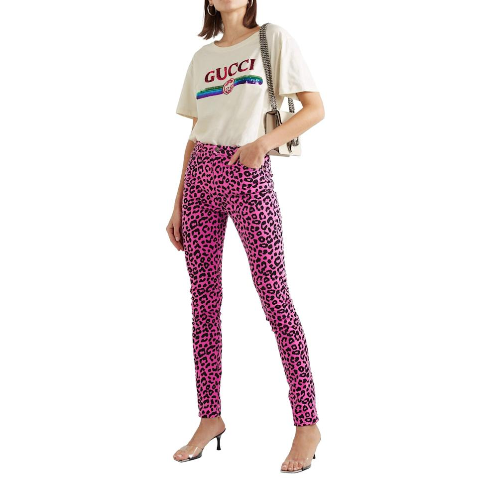 <p>These hot-pink <span>Gucci Leopard High Rise Skinny Jeans</span> ($341) are a major score on Hardly Ever Worn It.</p>