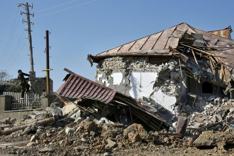 The accord comes a day after Azerbaijan captures the strategic town of Shusha
