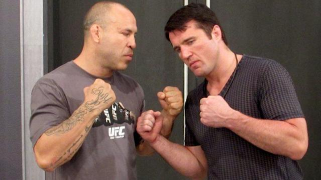 Wanderlei Silva (L) and Chael Sonnen finally get to settle their long-standing rivalry at Bellator 180 on June 24.