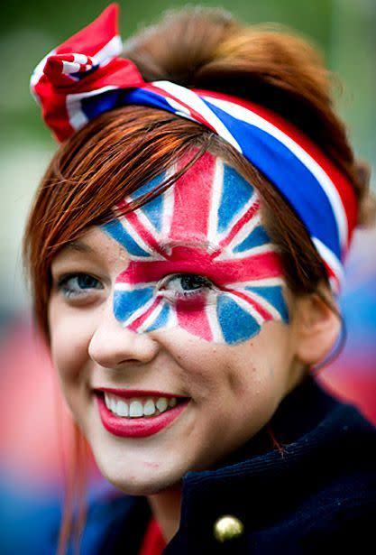 """<p>Give your guests a strict red, white and blue dress code in order for everyone to party in style. Also, have on hand face paints because everyone loves getting into the British spirit with some good old face painting. <i><a href=""""https://uk.pinterest.com/pin/22729173095592629/"""" rel=""""nofollow noopener"""" target=""""_blank"""" data-ylk=""""slk:[Photo: Pinterest]"""" class=""""link rapid-noclick-resp"""">[Photo: Pinterest]</a></i></p>"""