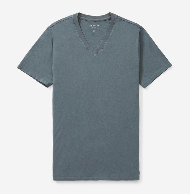 "<p><strong>Everlane</strong></p><p>everlane.com</p><p><strong>$18.00</strong></p><p><a href=""https://go.redirectingat.com?id=74968X1596630&url=https%3A%2F%2Fwww.everlane.com%2Fproducts%2Fmens-v-neck-tee-dark-slate&sref=https%3A%2F%2Fwww.esquire.com%2Fstyle%2Fmens-fashion%2Fg32734723%2Fbest-v-neck-t-shirts%2F"" rel=""nofollow noopener"" target=""_blank"" data-ylk=""slk:Buy"" class=""link rapid-noclick-resp"">Buy</a></p><p>Everlane's take on the style is substantial enough to double as a standalone layer if need be. </p>"