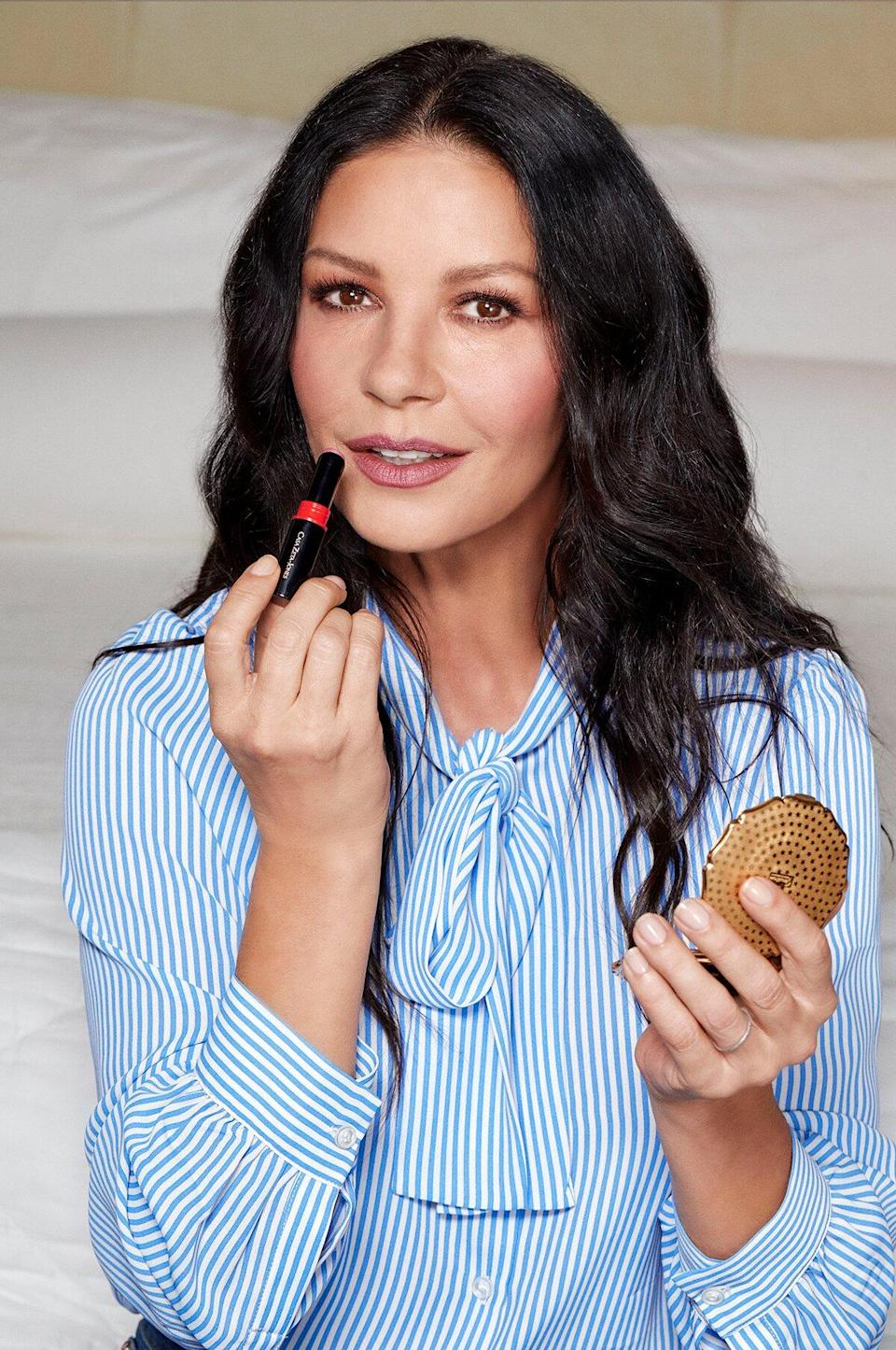 """<p>Casa Zeta-Jones is more than just a beauty brand; it's Catherine Zeta-Jones's full-blown lifestyle brand. (And yes, I will take one Catherine Zeta-Jones lifestyle to go, please.) But we're especially enamored with the makeup branch of the collection, created with the help of Wunder2. It actually makes sense that this color-cosmetics line has a limited selection of shades because they're shades you can actually picture Zeta-Jones wearing to create that signature sultry look of hers.</p> <p><strong>Star product:</strong> """"<a href=""""https://shop-links.co/1747507818929327010"""" rel=""""nofollow noopener"""" target=""""_blank"""" data-ylk=""""slk:My Mascara"""" class=""""link rapid-noclick-resp"""">My Mascara</a> ($24) immediately proved itself to be a <a href=""""https://www.allure.com/story/catherine-zeta-jones-makeup-brand-eye-pencil-mascara-review?mbid=synd_yahoo_rss"""" rel=""""nofollow noopener"""" target=""""_blank"""" data-ylk=""""slk:great everyday mascara"""" class=""""link rapid-noclick-resp"""">great everyday mascara</a> for anyone who wants a bit more than the bare minimum from their everyday mascara,"""" says <em>Allure</em> contributing editor Marci Robin.</p>"""