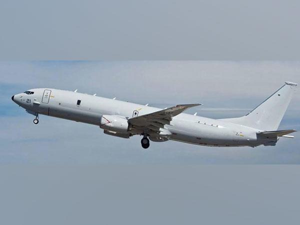 A picture of P-8I surveillance plane. Photo/ANI