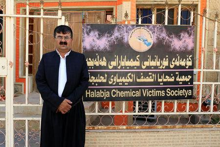 Lukman Abdel Qadir Mohammed, head of the Halabja Chemical Attack VictimsÕ Society, poses for the camera in the Kurdish town of Halabja, Iraq September 22, 2017. REUTERS/Thaier Al-Sudani