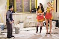 """<p><b>This Season's Theme:</b> """"Romance is more a part of the season than it ever has been on <i>2 Broke Girls</i>,"""" says executive producer Michelle Nader. """"We want the girls to have fun with the boys this year."""" <br><br><b>Where We Left Off:</b> Max (Kat Dennings) and Caroline (Beth Behrs) paid off Han's (Matthew Moy) gambling debt in exchange for part ownership in the diner, and Max said goodbye to Randy (Ed Quinn). <br><br><b>Coming Up:</b> The girls open their dessert bar, and their rapper pal, 2 Chainz, will be back for the hour-long premiere episode. Also back? Ed Quinn's Randy. """"He and Max had such a big very big romantic relationship,"""" Nader says. """"The timing is bad, but they are kind of crazy about each other."""" Caroline may finally get a love interest – and possibly a big-name star to play her in the movie about her life. Meanwhile, new mom Sophie (Jennifer Coolidge) will be """"a real helicopter parent,"""" says Nader. <br><br><b>Han, Solo:</b> Nader tells us Han will be desperate to get his diner back, so he'll take on side jobs as an Uber driver, a flower delivery guy, and a dog walker. While the girls will have some success with their dessert bar, a snafu involving an illegal liquor license could keep them broke as a joke. <i>– VLM</i> <br><br>(Credit: Darren Michaels/CBS)</p>"""
