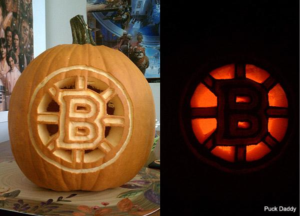 Heres A Boston Bruins Pumpkin From Matthew Bourque No Relation That In Way Reminds Us Of Claude Juliens Head