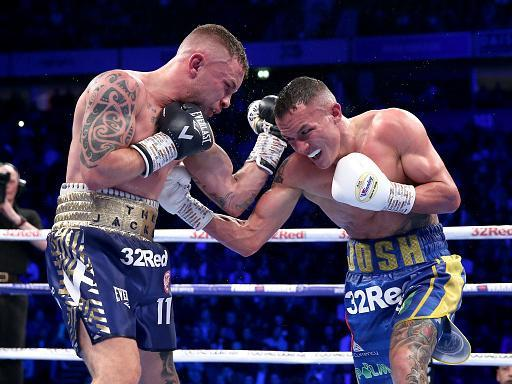 Josh Warrington dominates Carl Frampton in December 2018 (Getty)