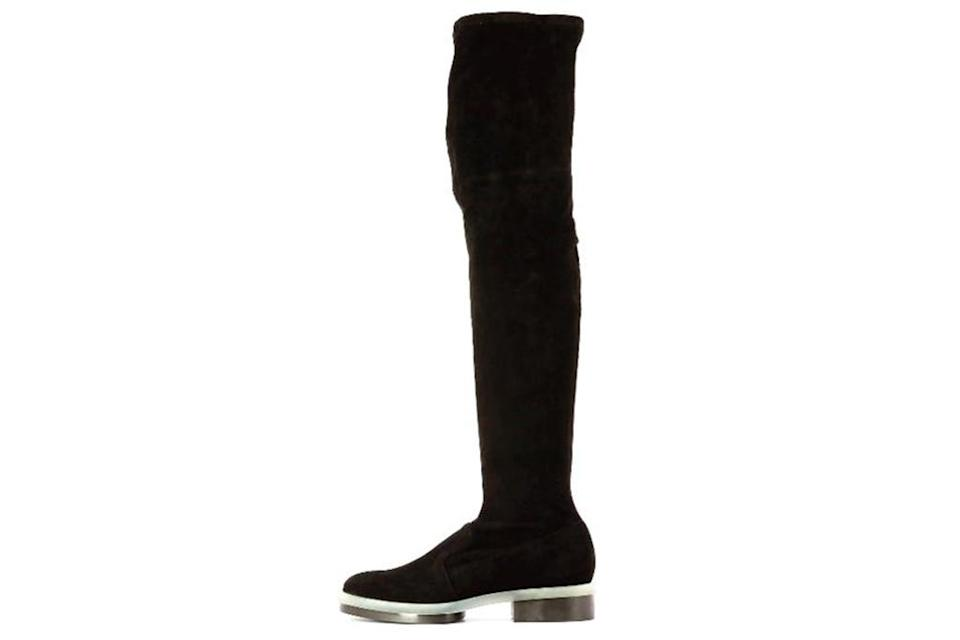 Clergerie boot, black over the knee boot, leather boot