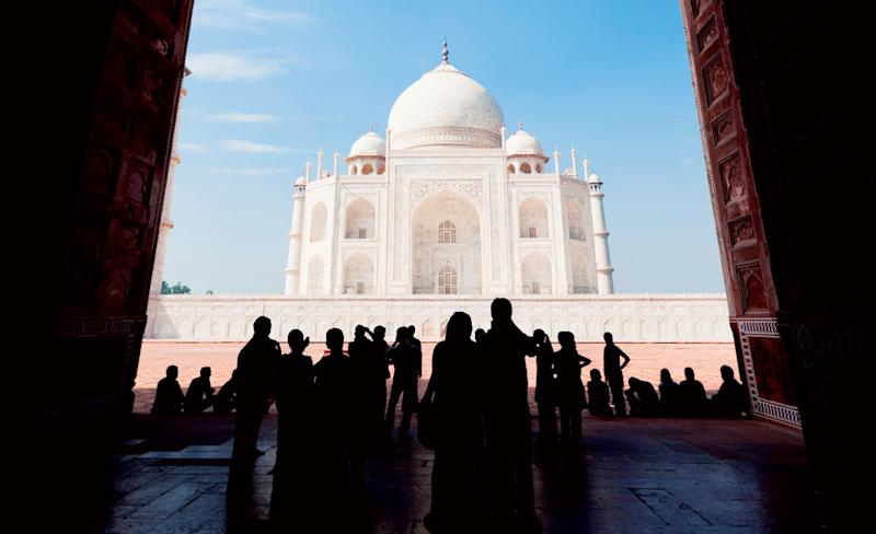 The Taj Mahal, built in 1643