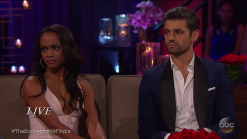 Rachel and Bryan on The Bachelorette finale.