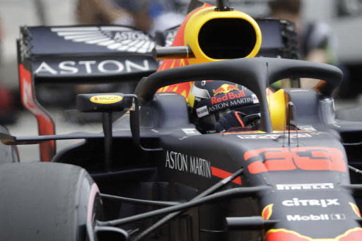 Red Bull driver Max Verstappen of the Netherlands steers his car during a practice session in Monaco, Thursday, May 24, 2018. The Formula one race will be held on Sunday. (AP Photo/Luca Bruno)