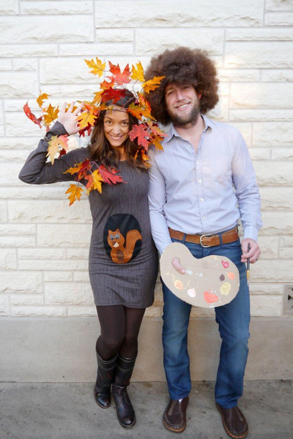 """<p>The ultimate family costume for <a href=""""https://www.countryliving.com/life/a36792/bob-ross-fun-facts/"""" rel=""""nofollow noopener"""" target=""""_blank"""" data-ylk=""""slk:Bob Ross"""" class=""""link rapid-noclick-resp"""">Bob Ross</a> fans. </p><p><strong>Get the tutorial at <a href=""""https://www.creatingreallyawesomefunthings.com/diy-family-halloween-costume/"""" rel=""""nofollow noopener"""" target=""""_blank"""" data-ylk=""""slk:Create Really Awesome Fun Things"""" class=""""link rapid-noclick-resp"""">Create Really Awesome Fun Things</a>.</strong><br></p><p><a class=""""link rapid-noclick-resp"""" href=""""https://www.amazon.com/GoFriend-Artificial-Decoration-Thanksgiving-Christmas/dp/B075ZPNMK1/?tag=syn-yahoo-20&ascsubtag=%5Bartid%7C10050.g.4972%5Bsrc%7Cyahoo-us"""" rel=""""nofollow noopener"""" target=""""_blank"""" data-ylk=""""slk:SHOP FAUX FALL LEAVES"""">SHOP FAUX FALL LEAVES</a> </p>"""