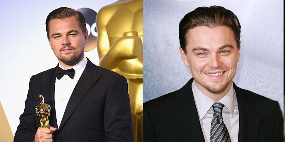<p>Even after winning his first Oscar, Leonardo DiCaprio kept his cool on the red carpet. In fact, the actor hasn't broken out into a full-on grin on the red carpet since he was a young man.</p>