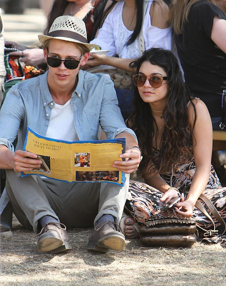 Romance was in the air for Vanessa Hudgens and her boyfriend Austin Butler when they went back in time at the Renaissance Pleasure Faire in Irwindale, California. (5/20/2012)