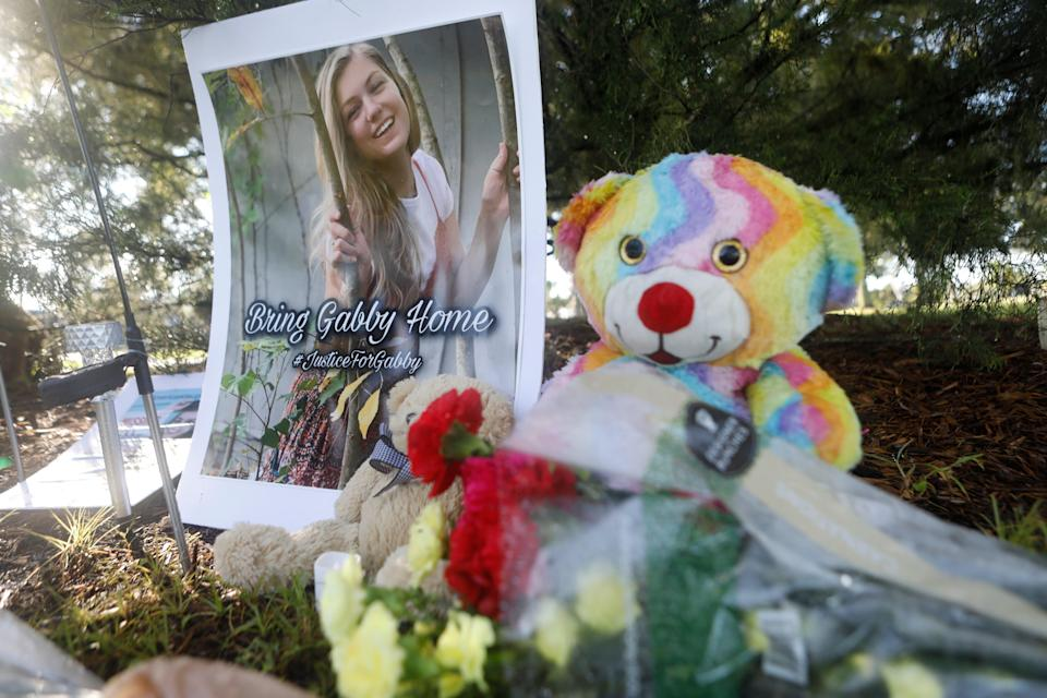 A memorial for Gabby Petito at North Port's City Hall  (Getty Images)