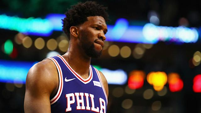 The 76ers lost a tough one, 113-103, to the Heat in Game 2 of their first-round playoff series, and star center Joel Embiid was not happy about it.