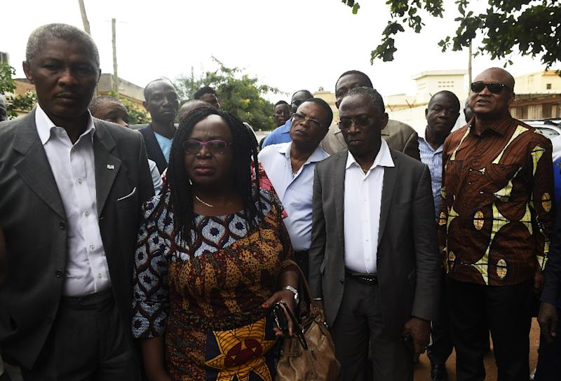 Togo opposition leaders (left to right) Nathaniel Olympio, Brigitte Adjamagbo Dodji Apevon, and Jean-Pierre Fabre have called for presidential term limits