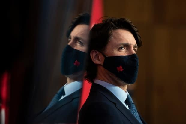 Prime Minister Justin Trudeau participates in a news conference on the COVID-19 pandemic in Ottawa, Friday, March 12, 2021. (Justin Tang/Canadian Press - image credit)