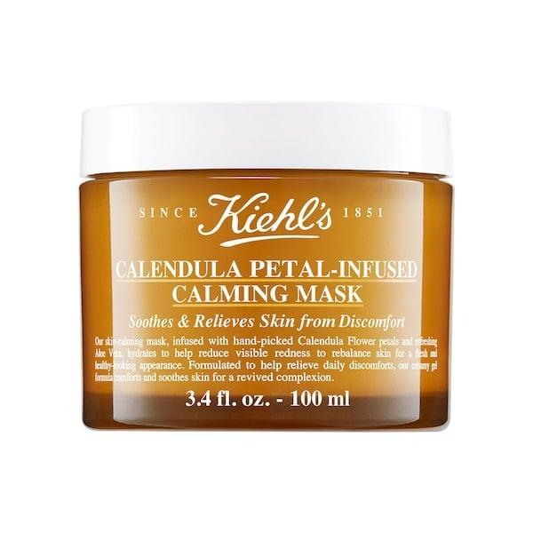<p>Not only does this <span>Kiehl's Since 1851 Calendula Petal-Infused Calming Mask with Aloe Vera</span> ($45) use aloe to soothe visible signs of irritation, there are also hand-picked calendula flower petals and calendula extract to buddy up and help take on dryness in just 15 minutes' time.</p>