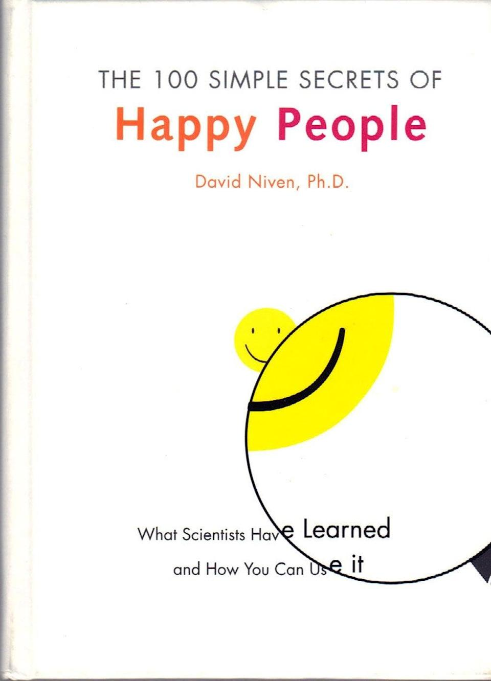 <p>There are thousands of studies on what makes people happy, but they're often inaccessible to the public. In <span>The 100 Simple Secrets of Happy People</span>, David Niven, PhD, pulls the most important nuggets of info from these studies and presents them to you in an easy-to-understand format. </p>